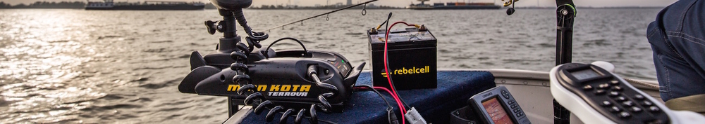 Rebelcell quick connect fishfinder